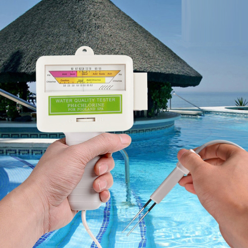 Test Equipment PH Meter Home Swimming Pool Water PH / CL2 Tester, Cable length: 1.2m