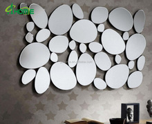 New modern design Irregular spell wall mirror/crushed glass mirror for home decoration