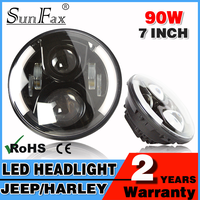Round 90w C REE led driving light 7inch 7'' led headlight with DRL for Jeep Wrangler Offroad Truck 4WD Work light