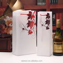 High End Custom Full Color Wine Bottle Gift Bag Plastic Ice Bag for Wine