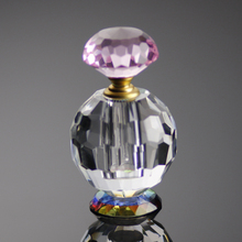 custom made lady's crystal glass roll on bottles perfume 12ml