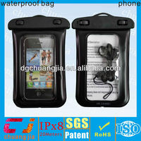 Travel transparent case waterproof dry bag for iphone plastic