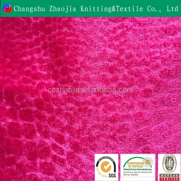 China manufacturer alligator 10 year experience high quality 100 polyester embossed upholstery fabric manufacture panne velvet