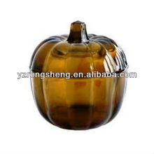glass harvest decoration pumpkin