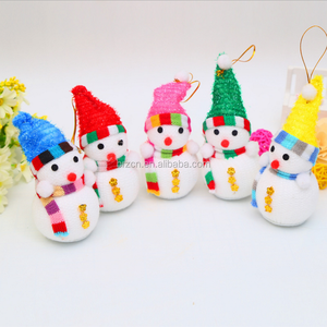 Colorful Christmas Tabletop Decorative Foam Craft Snowman