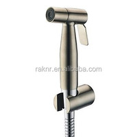 Contemporary Stainless Steel Nickle Brushed Finish Bidet Faucet Without Supply Hose And Shower Holder