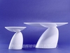 Fiber glass coffee table mushroom shape parabel table in different sizes
