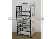 Multi-level wire metal functional storage rack and trolley