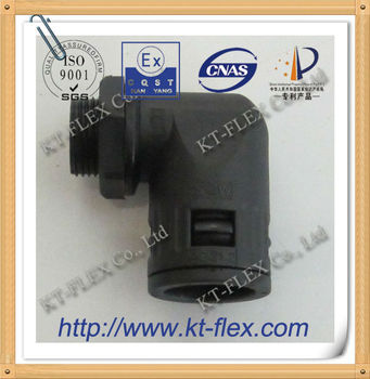 90 degree flexible quick conduit fittings
