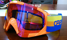 new style anti fog off road racing mirror lens motocross goggle