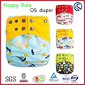Happy flute new pattern wholesale washable cloth sweet baby diaper