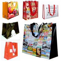 Reusable nonwoven shopping bags with customized logo