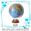 hot sales ! arts good quality smooth surface earth globe with wooden base for teaching tool or decoration & gifts YGL1320S