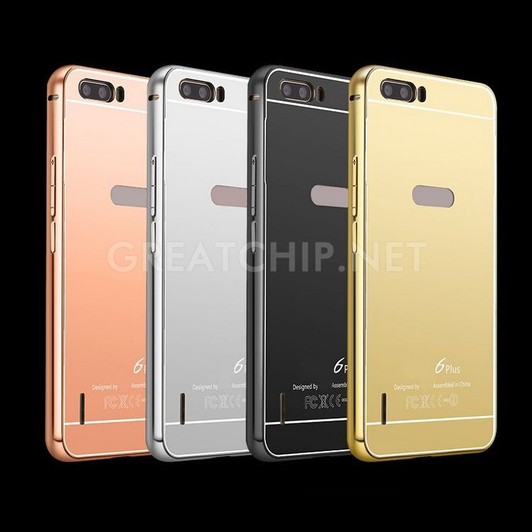 Luxury silver gold mirror case for Huawei 4C,metal bumper for Huawei glory