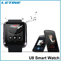 Hot!! U8 Bluetooth Smart Wristband Watch Phone for Android IOS Touch Screen Smart mobile Phone mate black with ce rohs warranty