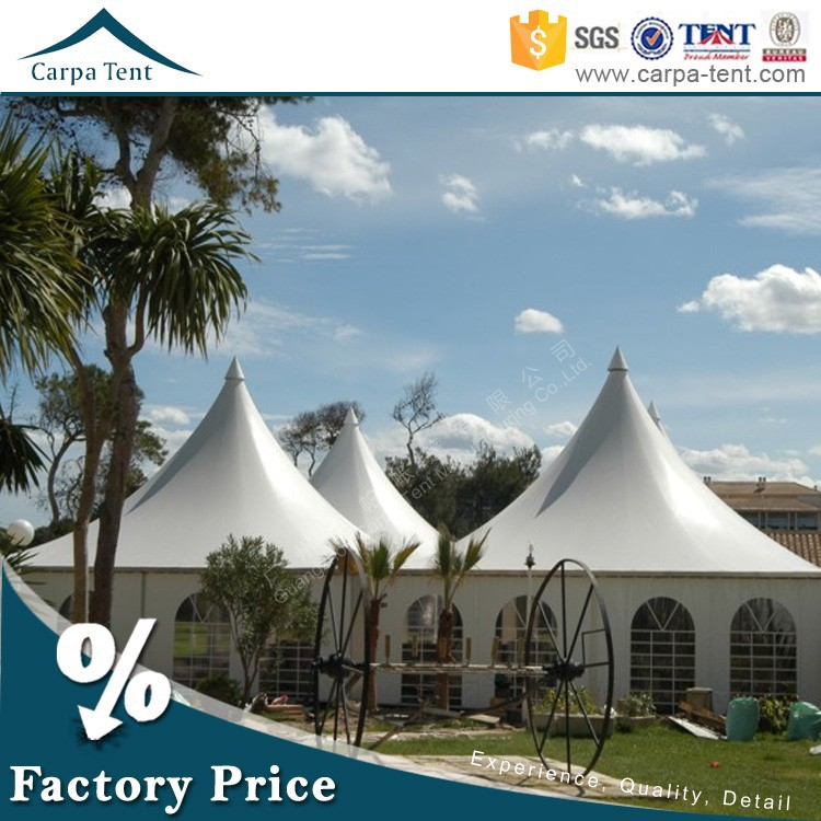 beautiful posh temporary tent building aluminium frame tents 100% rainproof canvas canopy for wedding and party with linings