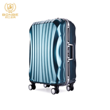 Factory direct sale removable trolley aluminum frame new direction royal travel excel luggage