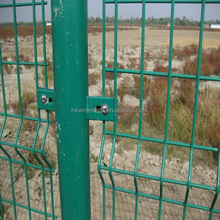 Low price double edges wire fence/ lowes hog wire encing