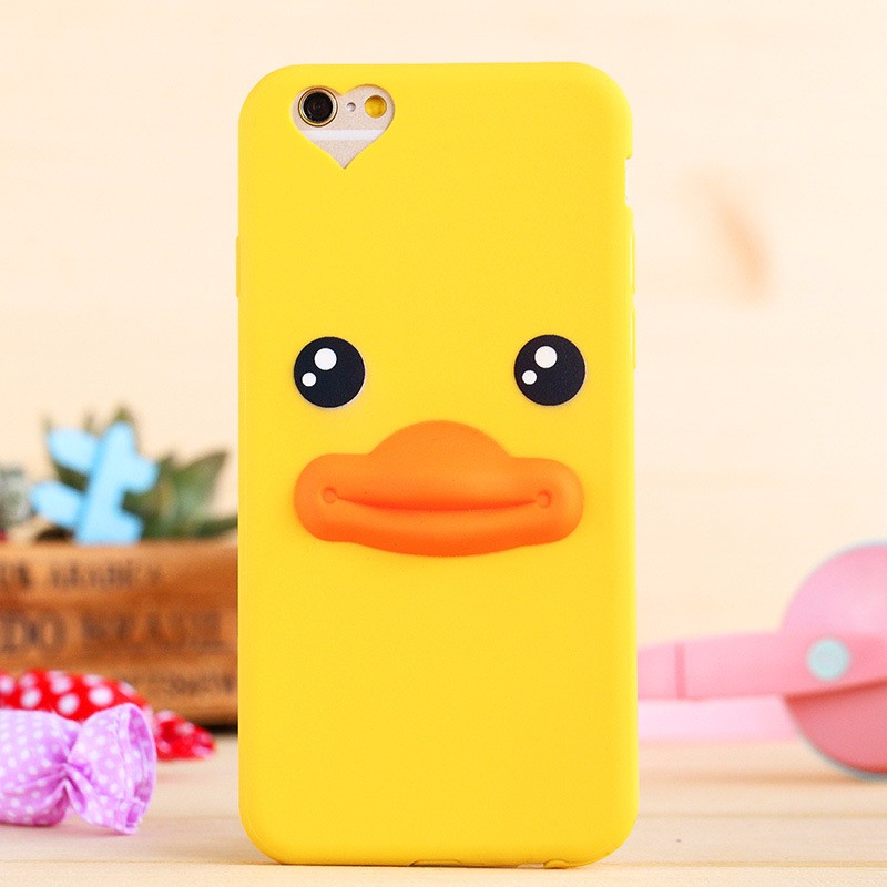 Custom 3d silicon cute animal cartoon cell phone case for iphone 6
