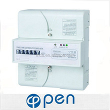 digital power meter din rail 3 phase 4 wire energy meter connection electrical energy three phase digital energy meter