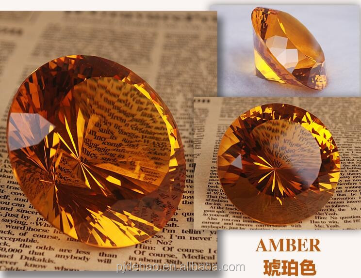 Wholesale Dazzling Valentine's Gift Amber K9 Crystal Glass Diamond