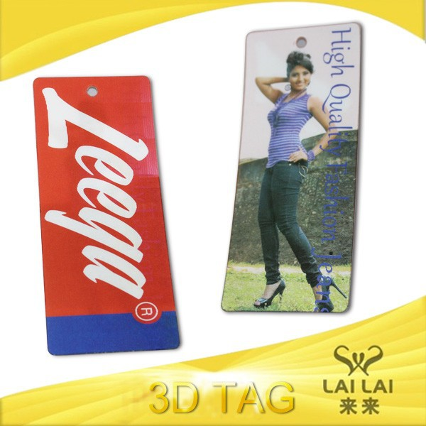 Fashion design 3D tag label for garment and luggage