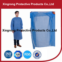 Disposable PP Surgical Gown With Knit Cuffs