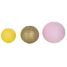 Factory directly sale round Chinese handmade paper Christmas lanterns lamp wedding party home decoration hanging paper lantern