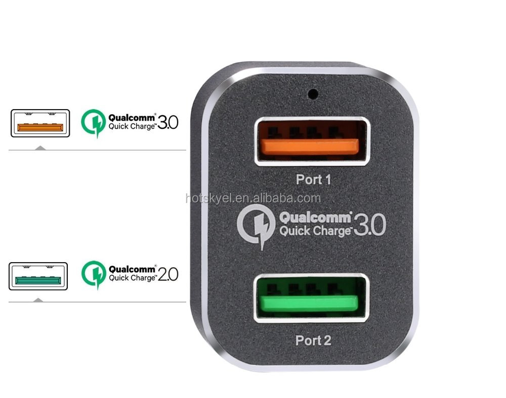Car 2 Port Dual USB Charger by YOUWAY Best USB Car Charger Compatible With Qualcomm Quick Charge 2.0 & 3.0 Car Charger