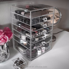 2015 cheap 6 drawer acrylic makeup organizer with ISO 9001