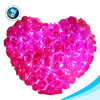 China custom plush stuffed soft red heart shaped pillow rose led pillow