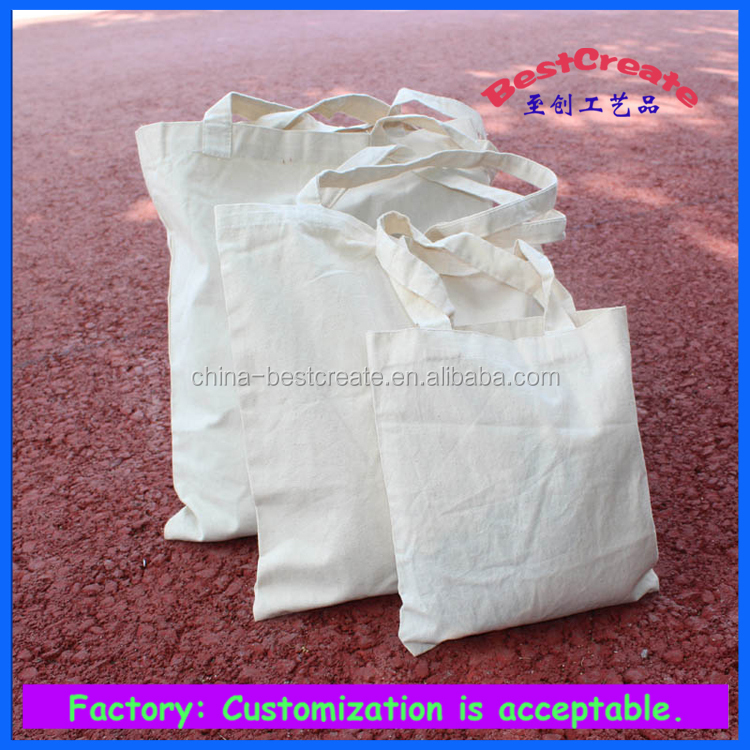 2015 pure color cotton bag 8oz cotton shopping bag with customized printing
