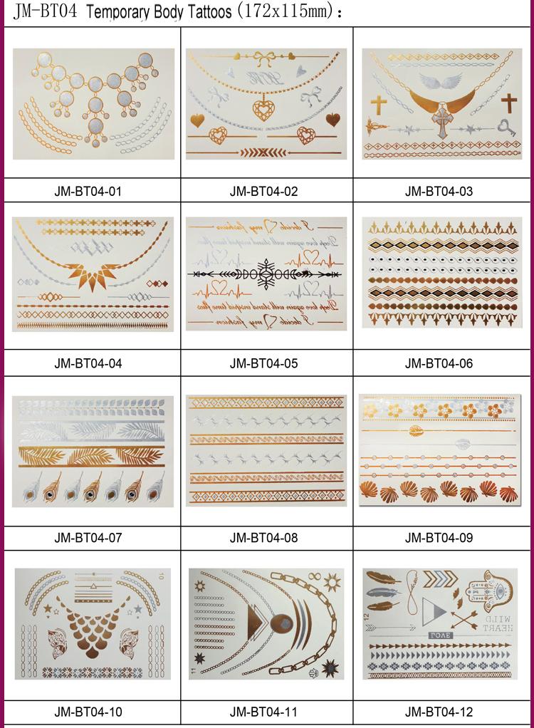 Tijdelijke tattoo ontwerp type metallic goud tijdelijke tattoo sticker buy product on - Ontwerp kind ...