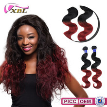 New Arrival 7A Virgin Peruvian 3 Bundles Hair Weaving XBL One Donor Hot Selling 99J Hair Weave
