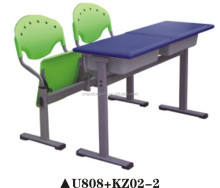 Best sell popular student desks and chairs double seater