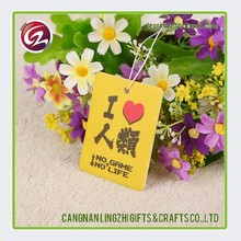 Cheap custom good quality flower scent paper car air freshener