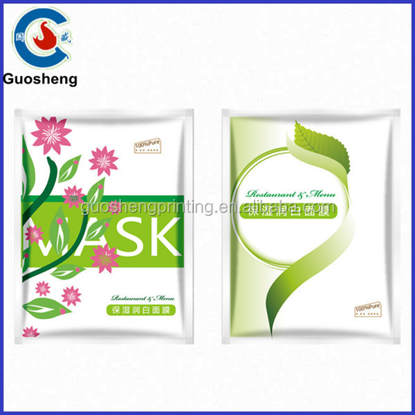 Deep Moisturizing Mask Fack Red Wine New skin care packaging bag