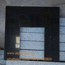 Hot Sale Black Granite Fireplace Back Panel