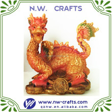 Antique resin Chinese dragon statues