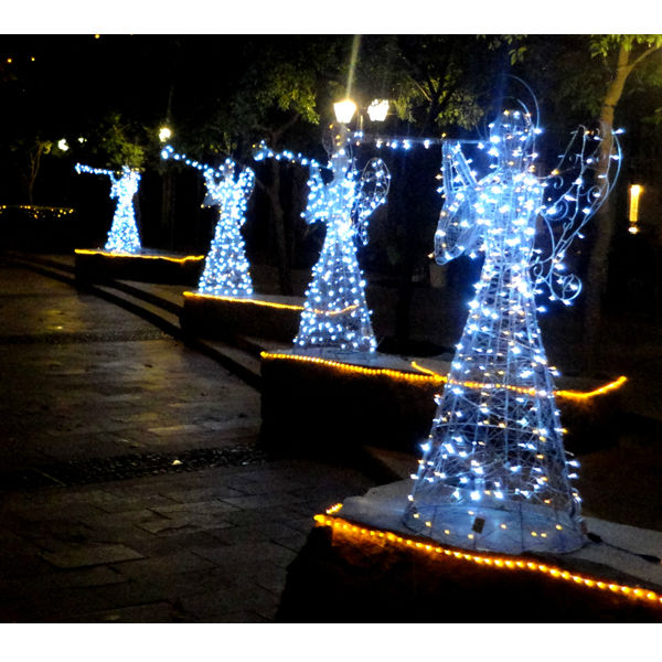 Lighted angel outdoor christmas decorations buy lighted for Led outdoor christmas ornaments
