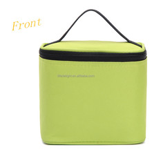 high quality square green oxford handed cooler lunch bag, mini office take away food aluminum foil cooler bag