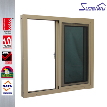 Australian standard glass warehouse sliding window door & window slide aluminum sliding shed window