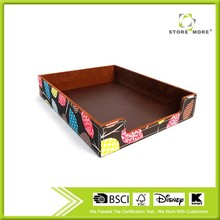 China Hangzhou beautiful leather file tray/Office desk organizer file tray