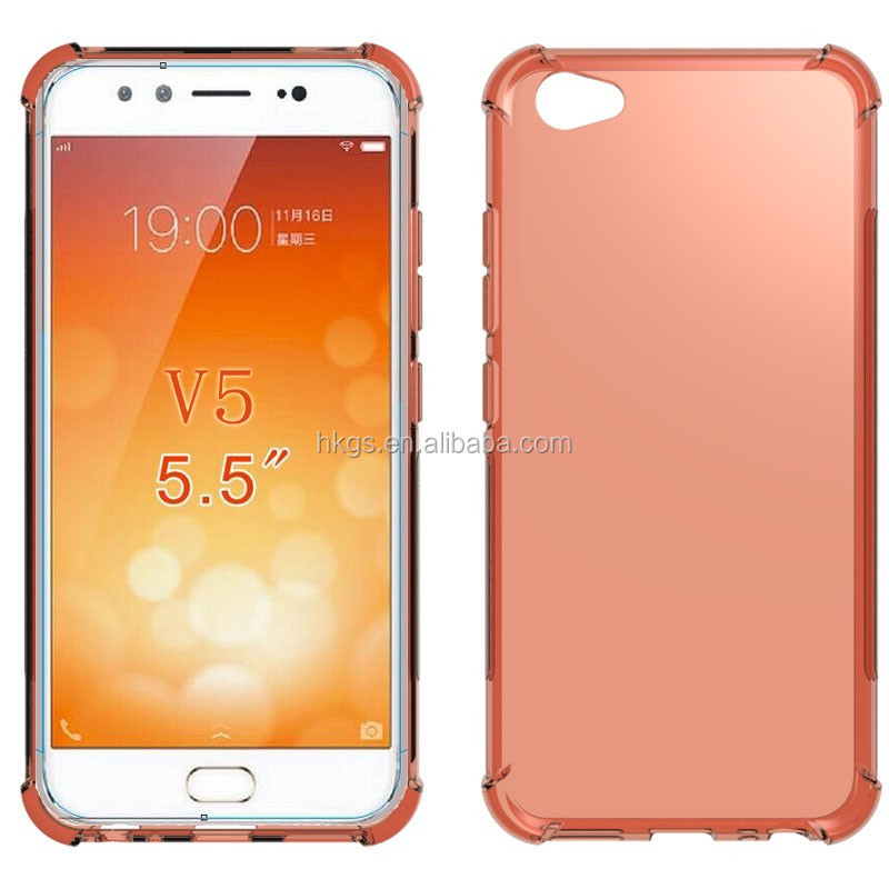 Shock Absorption Crystal Soft Gel TPU Back Cover Case For Vivo V5 Y67 V5Plus V5 Plus