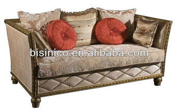 Living Room Romantic Sofa Furniture Victorian Style Loveseat 2 Seat Sofa Empire Furniture