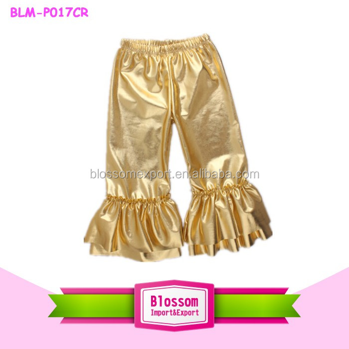 New Pants Design For Girl Trousers Mermaid Scale Shiny Baby Girls Casual Pants