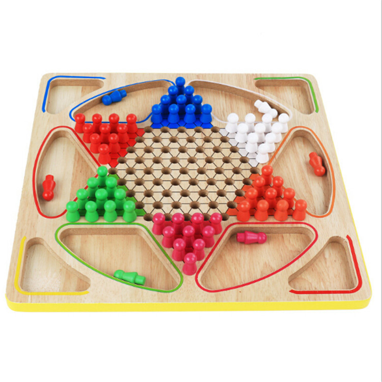 hot selling wood carving wooden 3 in 1chess set for kids