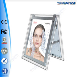 birghtness acrylic LED backlit poster frame with stand