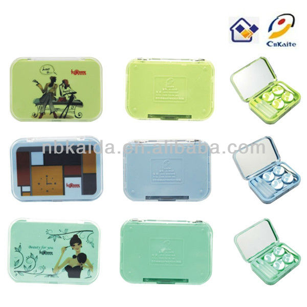 contact lens case tweezers sweet,happy and colorful