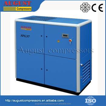 SFG37B 37KW/50HP 10 bar AUGUST stationary air cooled screw air compressor china screw air compressor machine